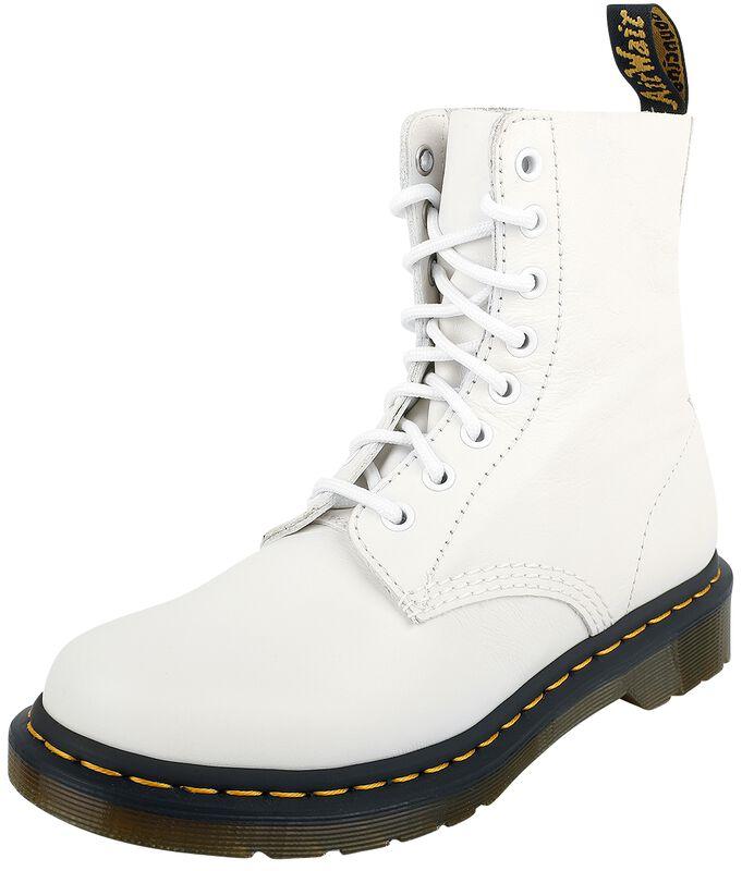 1460 Pascal Optical White Virginia 8 Eye Boot
