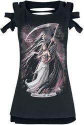 Gothicana X Anne Stokes - T-Shirt Noir Avec Imprimés & Découpes