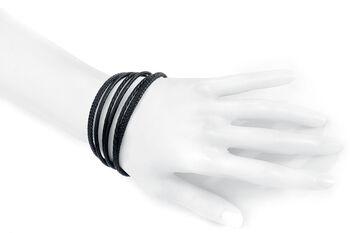 Bracelet Tressé En Cuir Black Trio