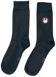 Chaussettes Noires Logo EMP