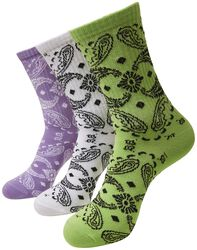 Bandana Pattern Socks 3-Pack