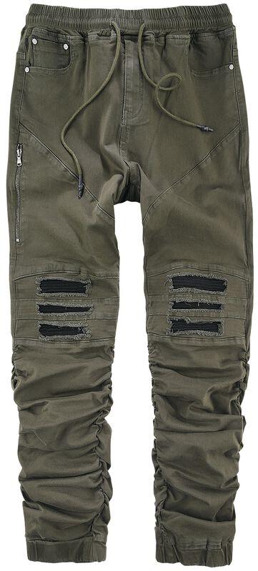Pantalon Décontracté Style Cargo Avec Détails Motard