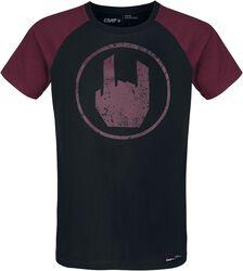 T-Shirt Noir Imprimé Rockhand Rouge