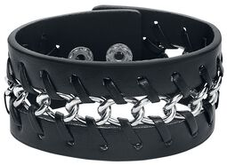 Bracelet Tressé Cuir & Chaîne