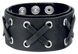 Bracelet En Cuir Avec Des Croix