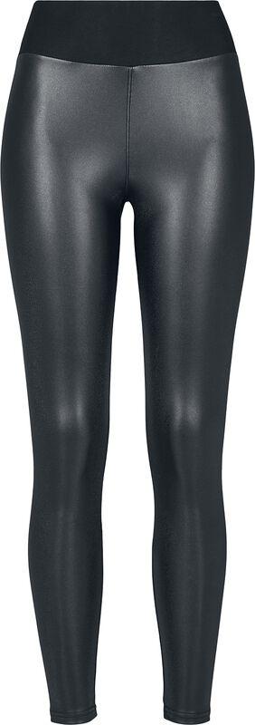 Leggings Simili Cuir Taille Haute