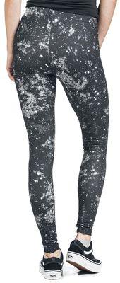 Leggings Noir Imprimé Galaxie