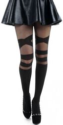 Collant V-Strap Sheer