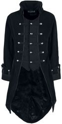 Manteau Pirate Velours Noir