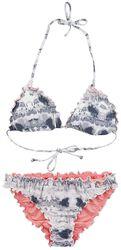 RED X CHIEMSEE - Bikini Batik Blanc/Noir