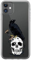 Knifed Skull Raven - iPhone