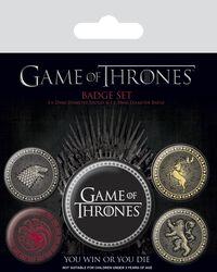 Emblèmes Stark, Targaryen, Lannister, Baratheon