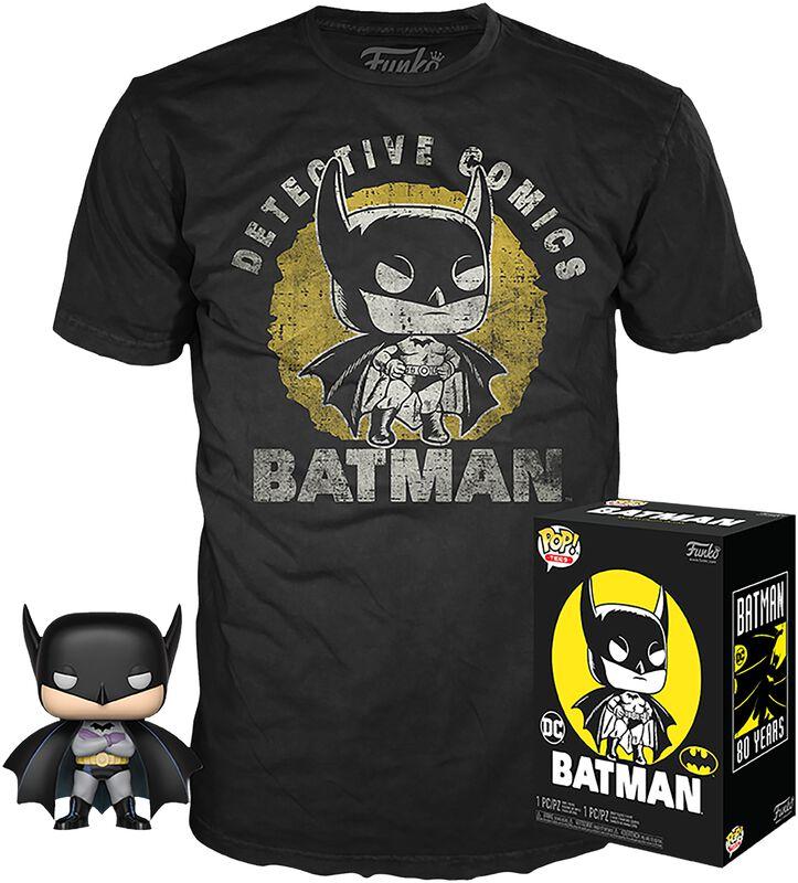 Batman (Délavé) - Pop! + T-Shirt