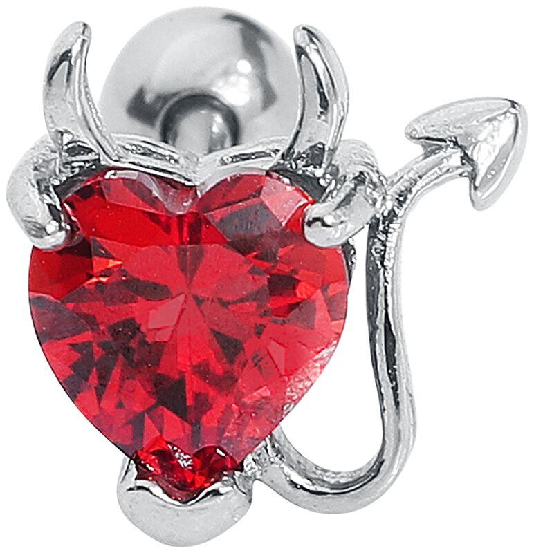 Barbell Devil Heart