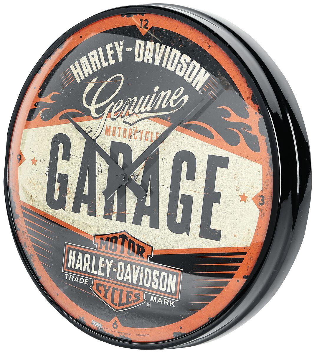 977a352495e4 Garage   Harley Davidson Horloge murale   EMP