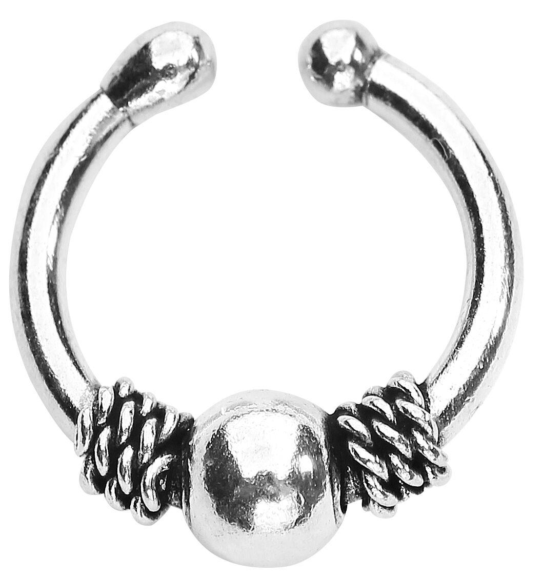 silver fake septum anneau pour le nez emp. Black Bedroom Furniture Sets. Home Design Ideas