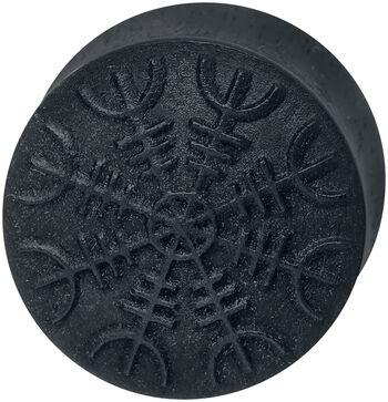 Casque De Helm Sur Bois Noir