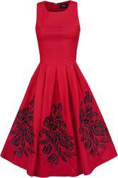 Robe Broderies Roses Annie