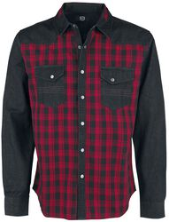 Chemise À Carreaux Rouge/Noire Avec Poches Poitrine