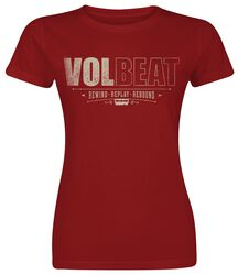 2aa1ab71b8569 Cover Volbeat T-Shirt Manches courtes. Distressed Logo