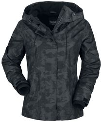 Veste Ca;ouflage Noire Avec Doublure Intérieure Douce
