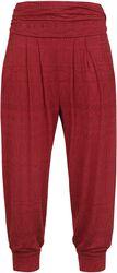 Pantalon Style Sarouel Rouge Imprimé Intégral