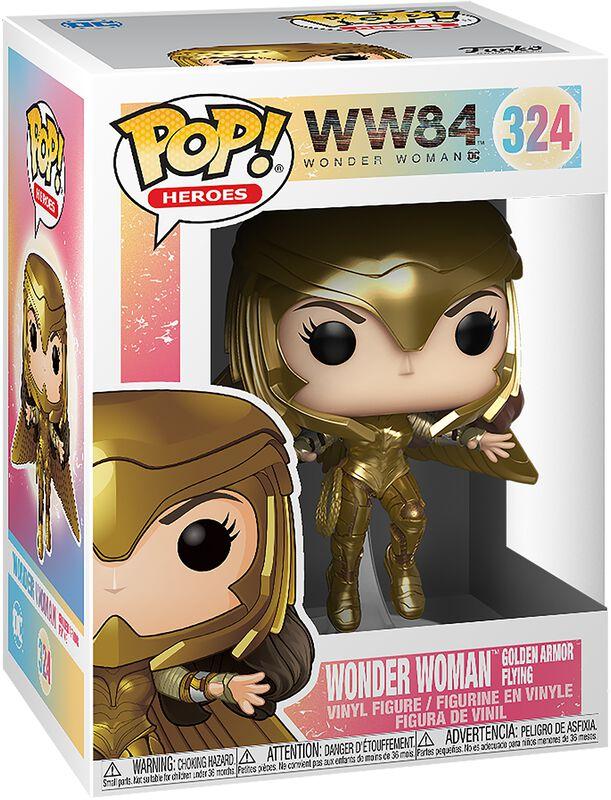 Wonder Woman 1984 - Wonder Woman Flying Armure Dorée - Funko Pop! n°324