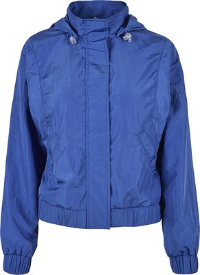 Ladies Oversized Shiny Crinkle Nylon Jacket