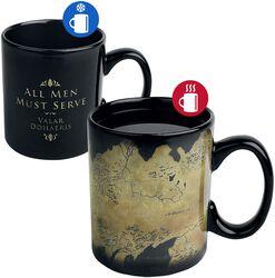 Carte De Westeros - Mug Thermoréactif