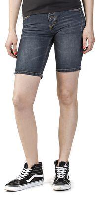 Short en jean avec braguette à boutons