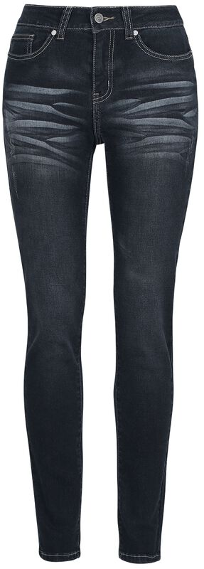 Skarlett - Dunkelblaue Jeans mit Waschung