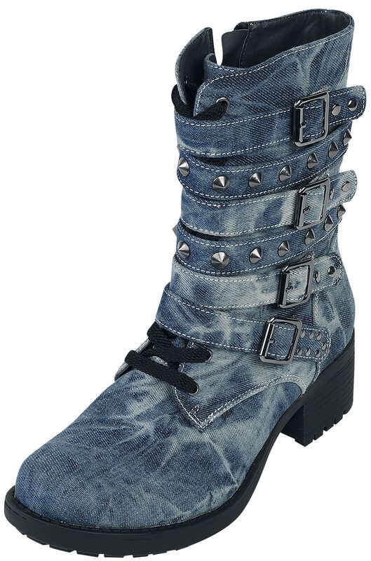 Bottines En Jean Cloutées