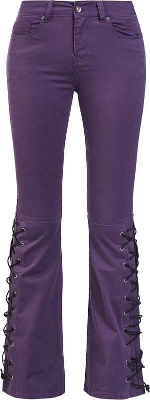 Grace - Violet Jeans with Side Lacing