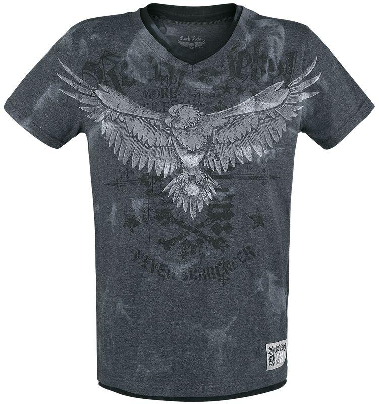 T-Shirt Imprimé & Col En V