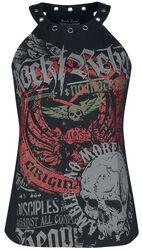 Haut Impriné Rock Rebel Avec Œillets
