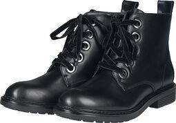 Boots Lacées En Velours
