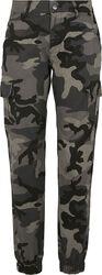 Pantalon Cargo Taille Haute Camouflage Femme