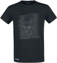 T-shirt noir avec imprimé noir