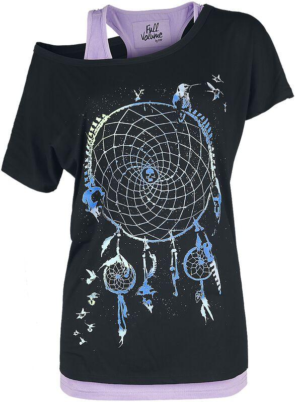 T-Shirt mit Traumfängerprint