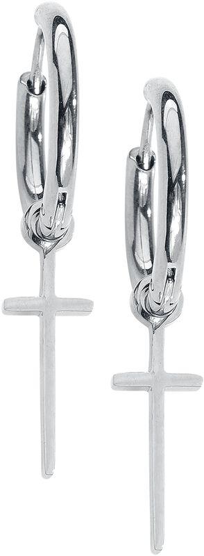 Boucles d'Oreille Créoles Petites Croix