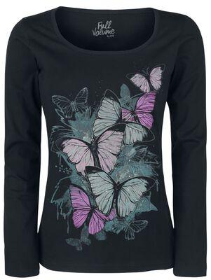 Haut Manches Longues Imprimé Papillons
