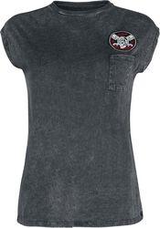 T-Shirt Noir Col Rond & Délavé
