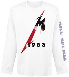 5af97839bacf Fade Metallica T-shirt manches longues. Kill  Em All - M