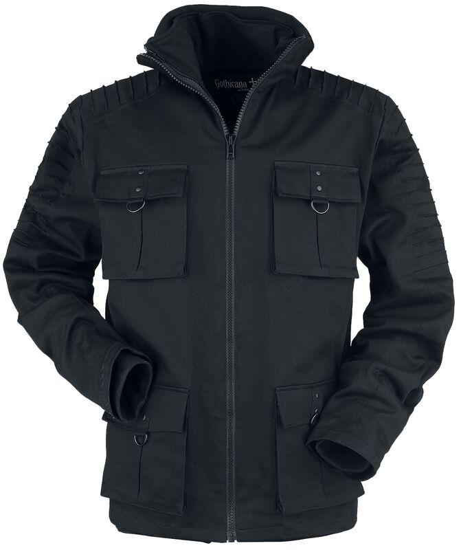 Manteau D'Hiver Avec Poches À Rabats Coutures Décoratives