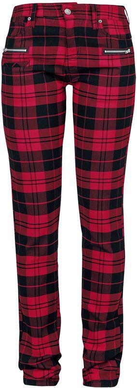 Skarlett - Pantalon À Carreaux Rouge/Noir