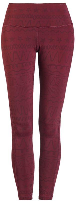 Sport & Yoga - Leggings rouge Imprimé Intégral