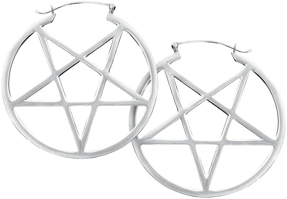 Boucles d'Oreille Créoles Petits Pentagrammes
