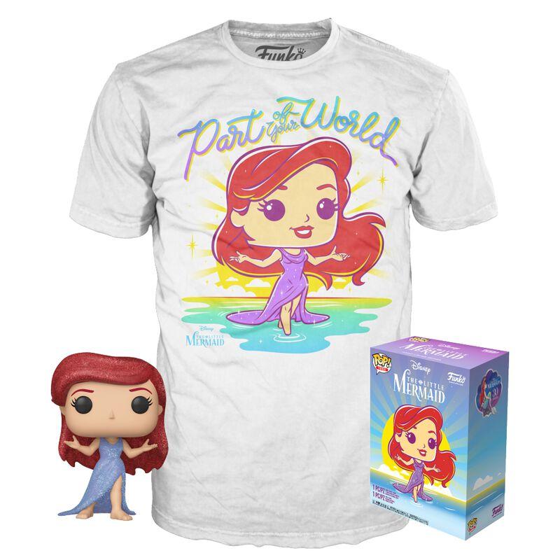 Ariel - T-Shirt + Funko - Pack Fan