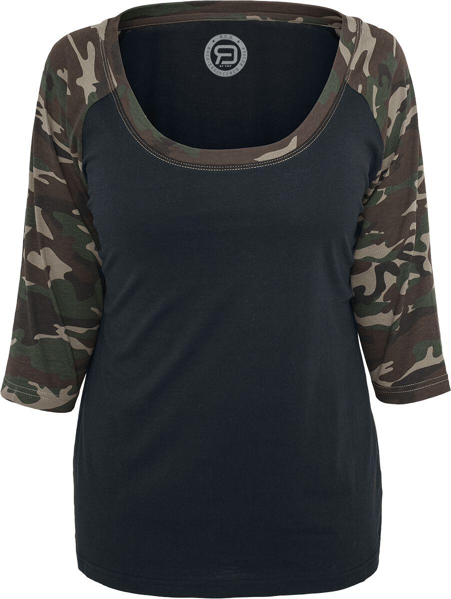 50640ed0bd330 T-Shirt 3 4 Raglan Femme   RED by EMP T-shirt manches longues   EMP