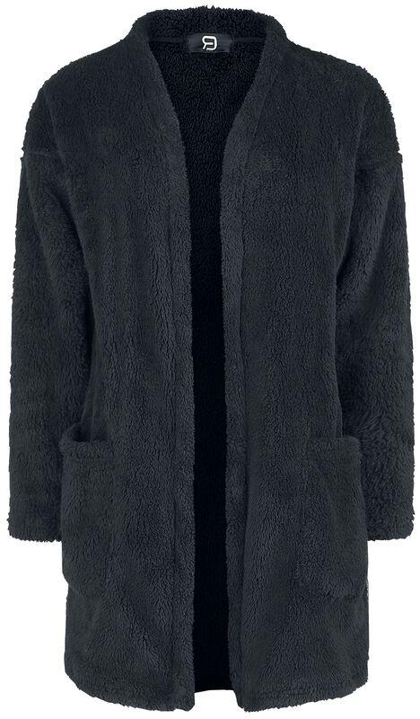 Gilet Noir Fluffy